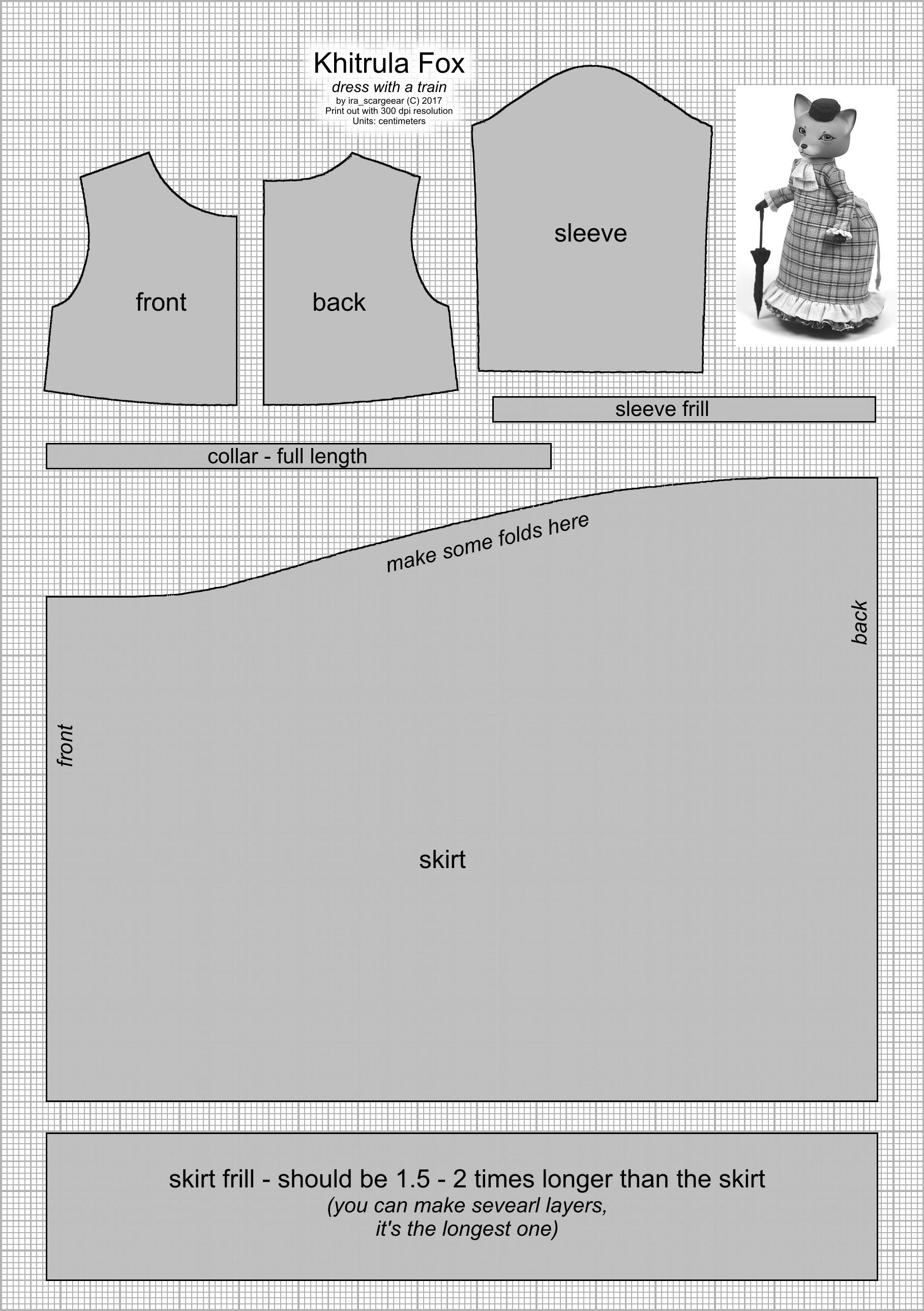 Khitrula Fox Dress Pattern