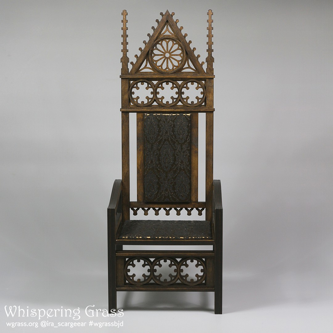 BJD Gothic Demountable Doll Throne by scargeear
