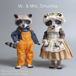 Mr. and Mrs. Smuzhka Raccoons