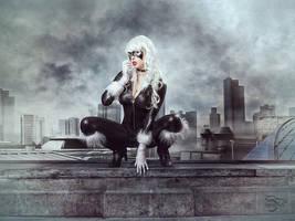 Black Cat Is Back In Town by schia025
