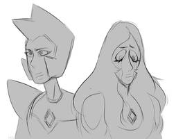 Yellow Diamond and Blue Diamond by ShamlessSilver