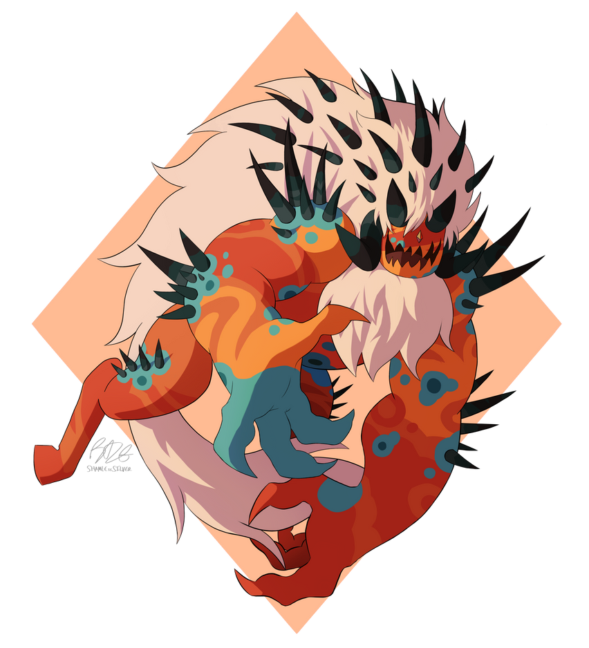 Coloring corrupted Jasper takes, so. LONG. It took me like an hour to make the patterns on her, to make it pleasing to look at. I didn't want to randomly throw them on there, so I took my time on i...