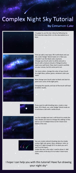 (A bit more) Complex Night Sky Tutorial