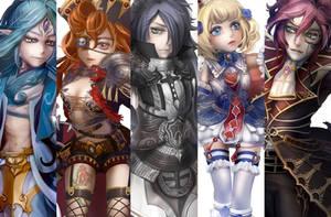 characters design by MARYMARU