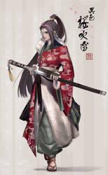Red-Sakura Fubuki by MARYMARU