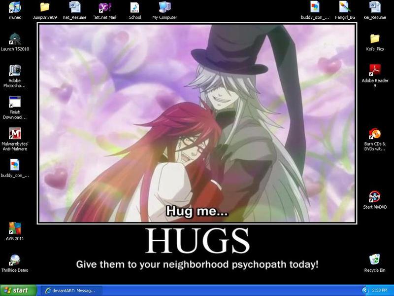 HUG ME desktop background by StarSubeki
