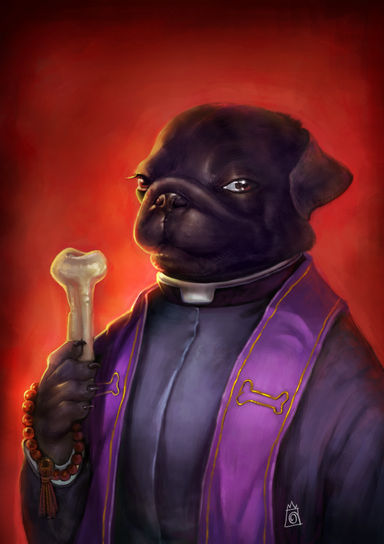 Pug The Exorcist by crocroar
