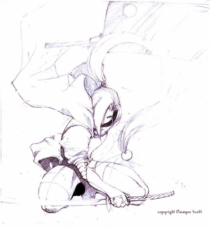 Ninja character by RueCalintz