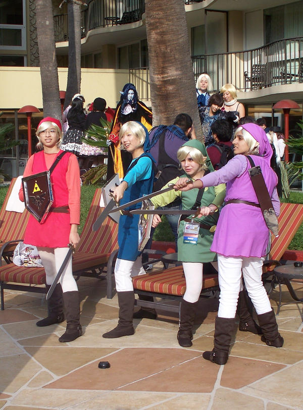 Link Four Swords Cosplay Four Swords cosplay AL...
