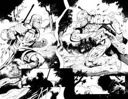Deadshot issue 6 pages 8 and 9.  Double Trouble