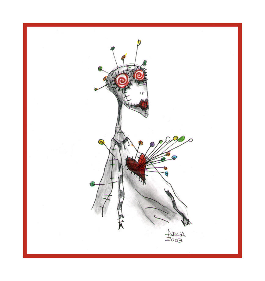 La chica vudu  By Tim Burton by aeliamg