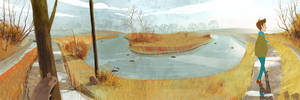 The Water Meadows Panorama