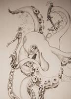 octopus by bonnfire