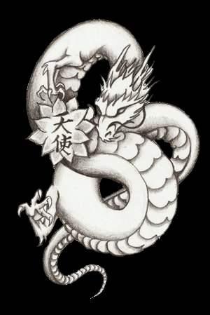 kristine's dragon tattoo by bonnfire