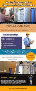 Noritz Tankless Water Heater Installation Repair by Tankless-WaterHeater
