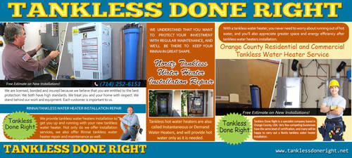 Tankless Done Right by Tankless-WaterHeater