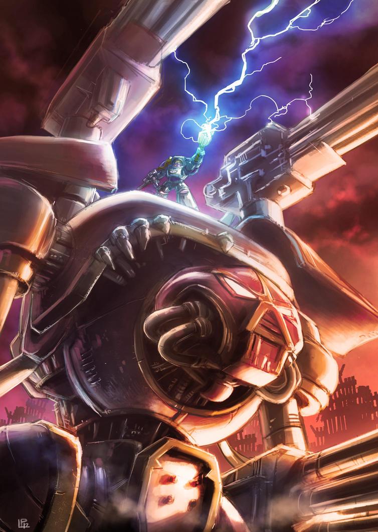 Warhammer 40k Titan reaver chaos by pierreloyvet on DeviantArt