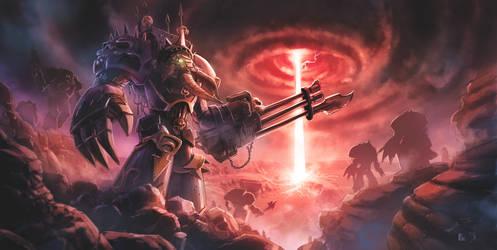 Warhammer 40K tribute: Chaos Terminator by pierreloyvet