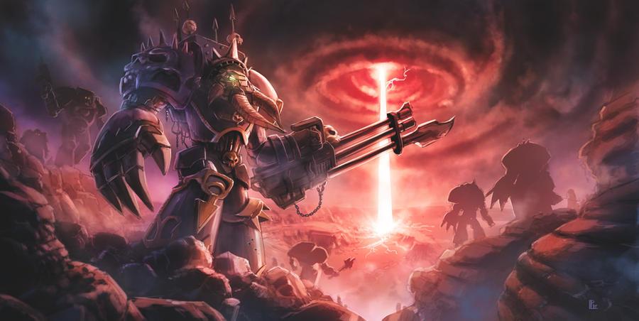 Warhammer 40K tribute: Chaos Terminator by pierreloyvet on ...