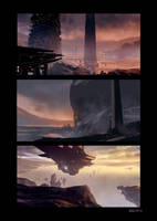 Speed paints Landscapes by pierreloyvet