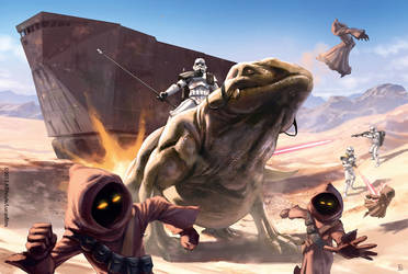 Star Wars Jawas execution by pierreloyvet