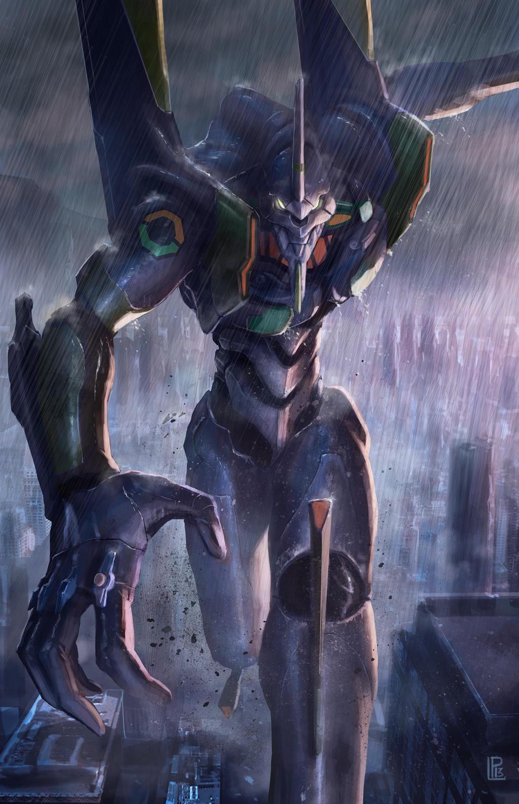 Evangelion Tribute Eva Unit 01 by pierreloyvet