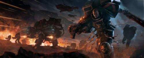 Warhammer 40k Death Company Blood Angels Tribute. by pierreloyvet