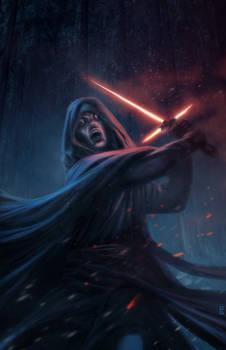Star Wars 7- The force Awakens speed paintFan art.
