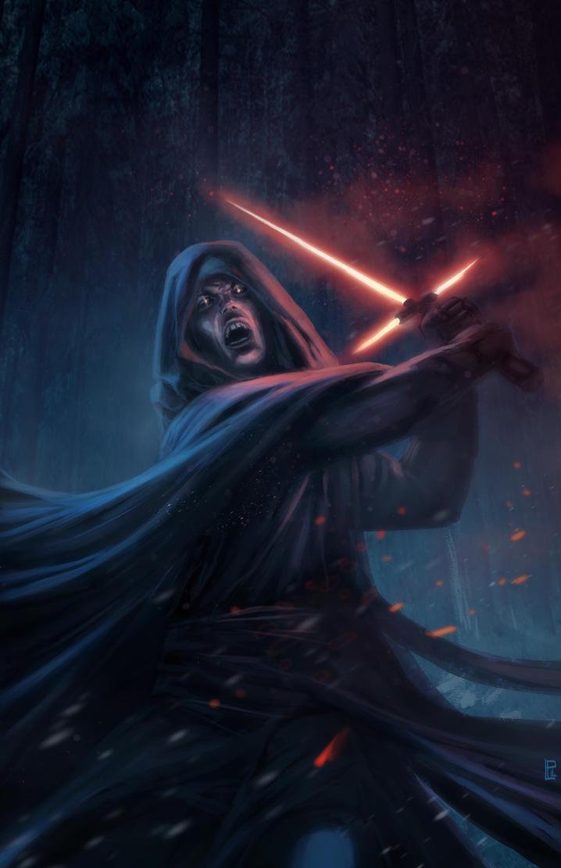 Star Wars 7- The force Awakens speed paintFan art. by pierreloyvet