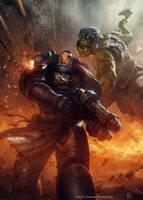 Orks vs Ultramarine