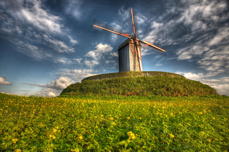 windmill in autumn by sm00keh