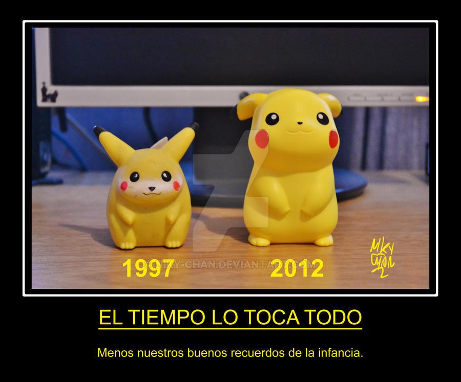 Pikachu 1997-2012 by Niky-Chan