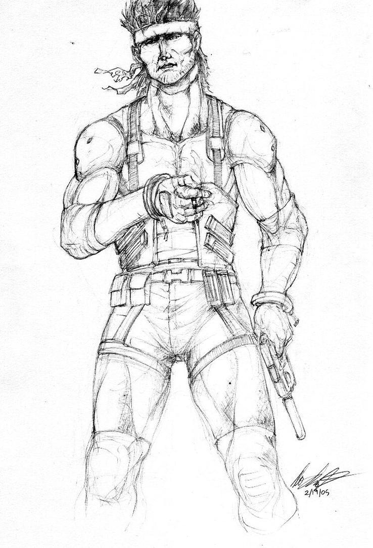 Solid Snake by kahrkillscain