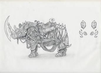 Battle Rhino by joshpurple