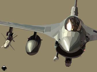 f-16 fighting falcon by Simarilius
