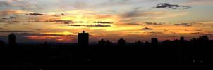 Sunset on a Brazilian skyline by Simarilius