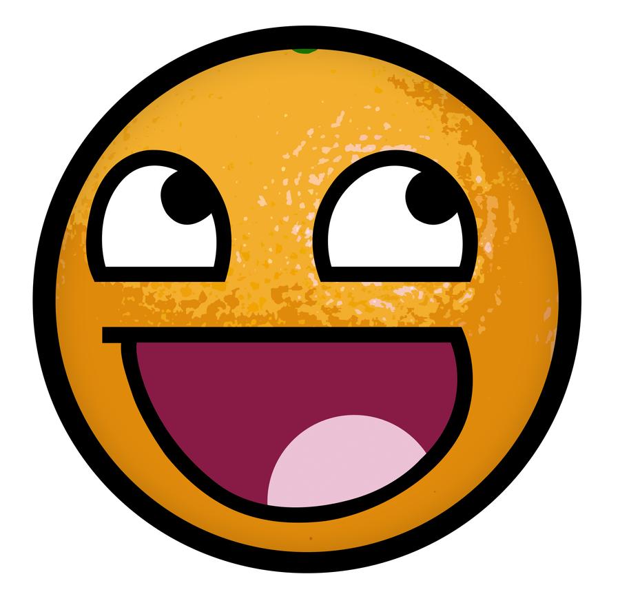 Orange Awesome Smiley by E-rap on DeviantArt