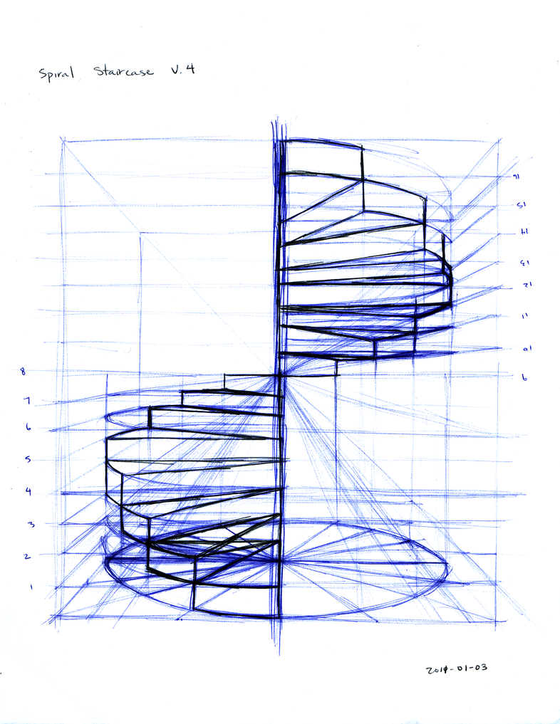 Spiral staircase by tynafish on deviantart for Spiral stair dwg
