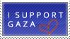 I Support Gaza Stamp by Dark-lil-Angel