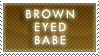 Brown Eyed Babe Stamp by Dark-lil-Angel