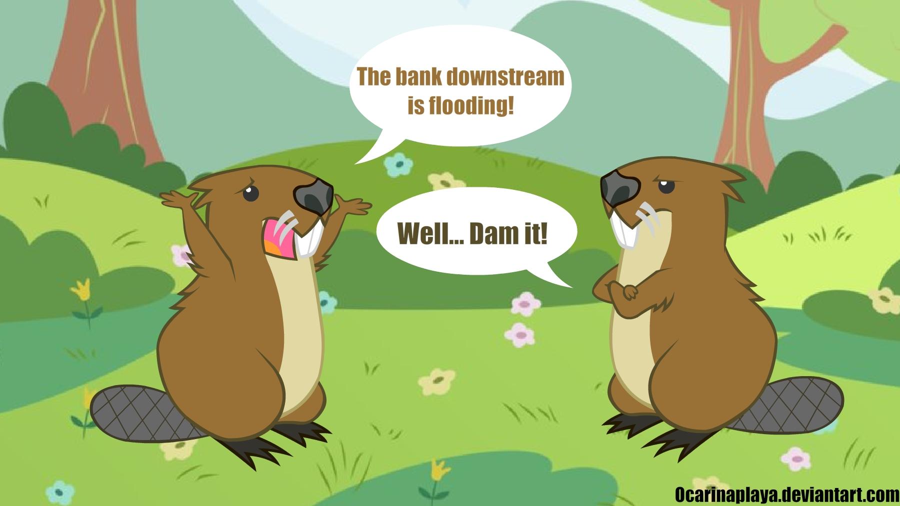 Beaver puns by Ocarinaplaya