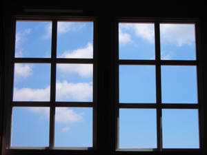 Clouds in the window