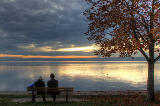 Old couple by the Ammersee