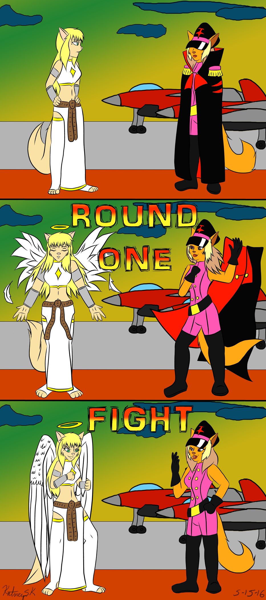 Revenge of the Fighting Game!  Fight Screen by KatneySK
