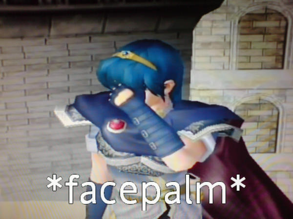 Marth Facepalm by Chloemew4ever