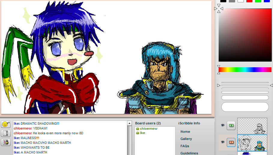 GIRLY IKE AND MANLY MARTH D: by Chloemew4ever