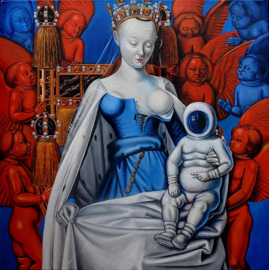 Maria met cosmonaut by SergVandreef