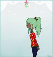 Mistletoe meme- Maddie: A quick peck won't hurt. by AshleyLeDork