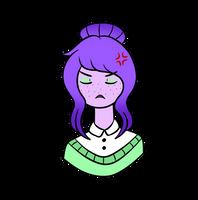 Zenya headbust doodle. by AshleyLeDork