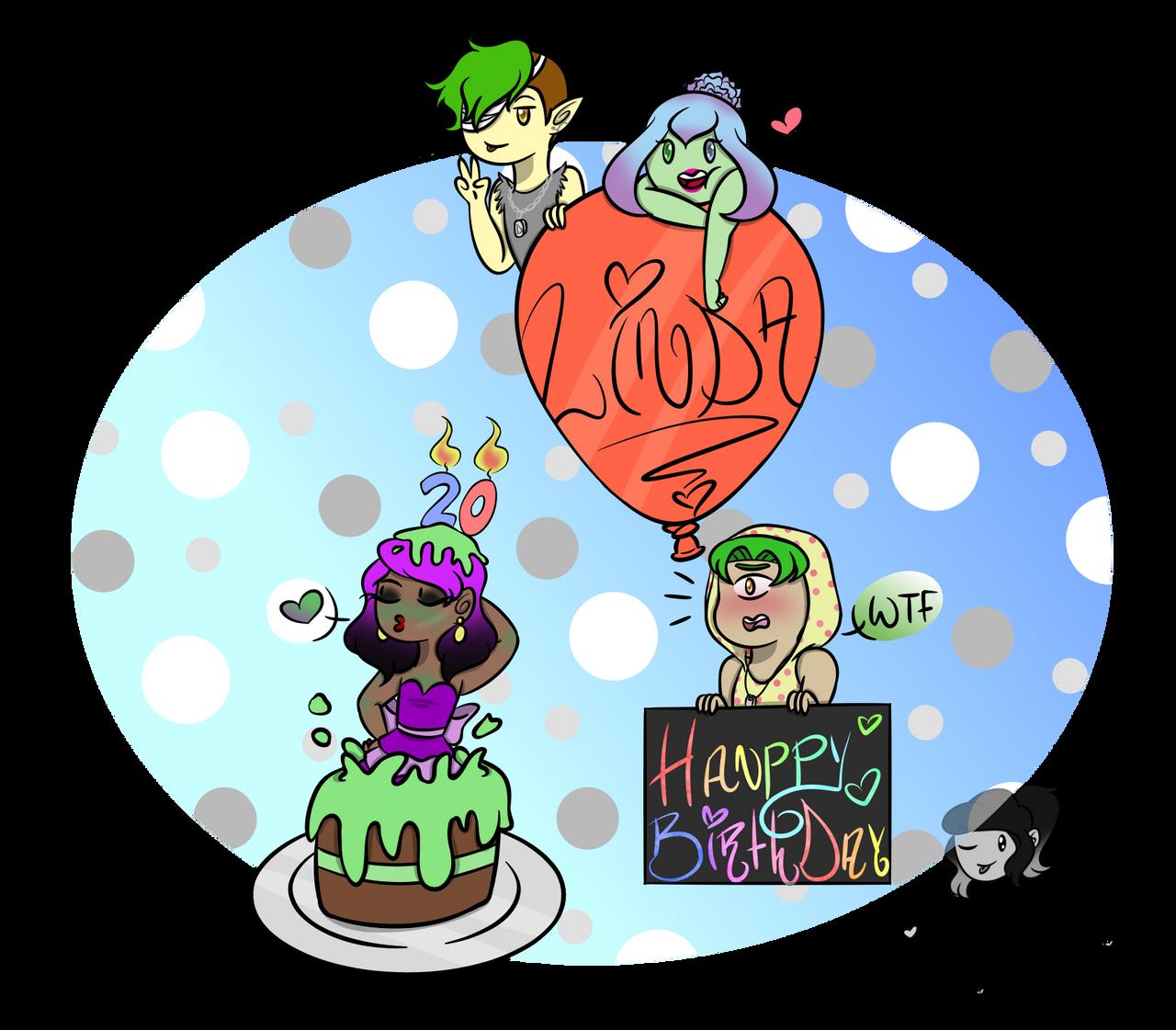 Hanppy Birthday Binch! by AshleyLeDork